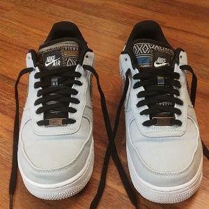 Nike air Force 1, baby blue denim